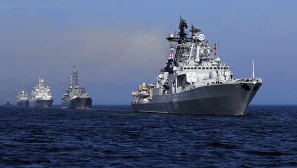 Desfile naval en Rusia - Sputnik Mundo