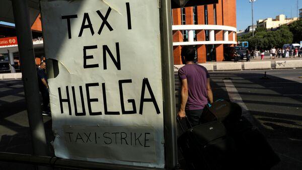 Huelga de taxistas en España - Sputnik Mundo