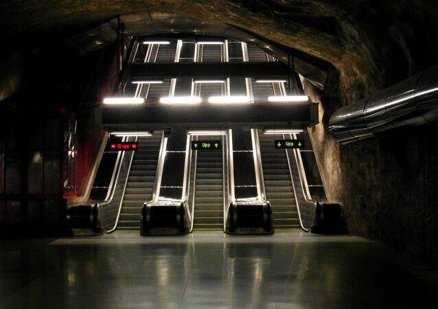 Metro en Suecia (imagen referencial)