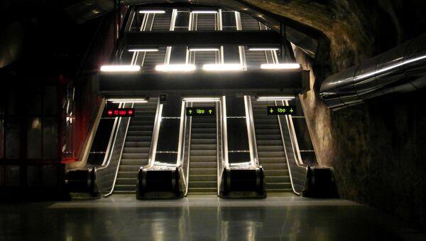 Metro en Suecia (imagen referencial) - Sputnik Mundo