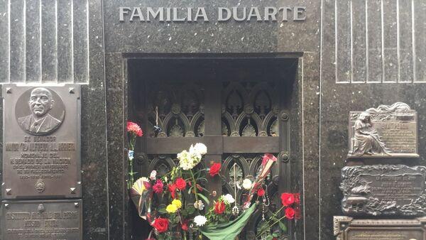 Cementerio de Recoleta, donde yace el cuerpo de María Eva Duarte de Perón. Buenos Aires, Argentina - Sputnik Mundo