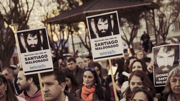 Manifestación por Santiago Maldonado - Sputnik Mundo
