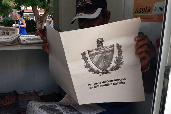 Proyecto de nueva Constitución en Cuba - Sputnik Mundo