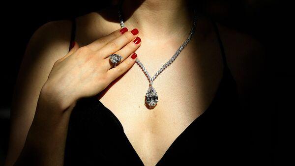 Diamante de 38 quilates que pertenecía a Christina Onassis (archivo) - Sputnik Mundo
