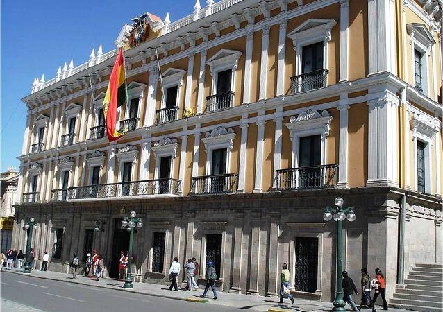 Palacio de Gobierno en La Paz, Bolivia
