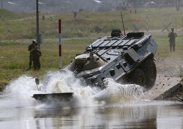 Un vehículo de reconocimiento químico de Rusia