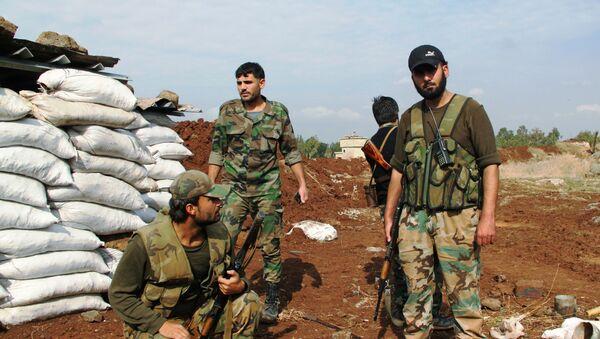 Soldados del Ejército sirio en Daraa - Sputnik Mundo
