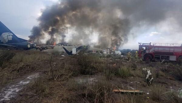 Lugar del siniestro del avión en Durango, México - Sputnik Mundo