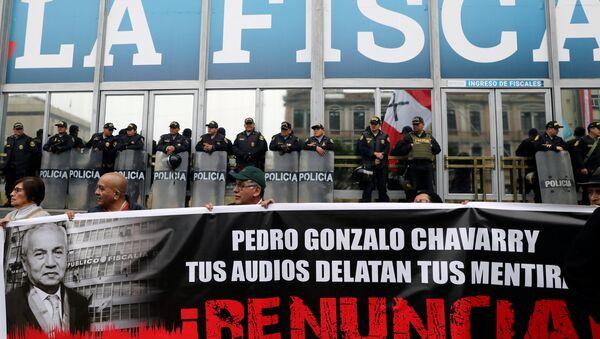 Protestas en  Lima contra corrupción - Sputnik Mundo