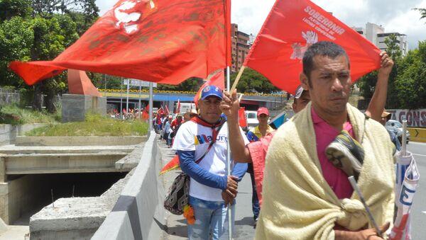 Movimiento campesino venezolano llegando a Caracas, Venezuela - Sputnik Mundo