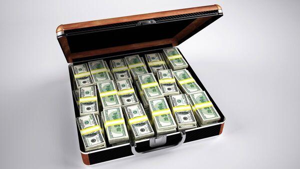 Un maletín con dinero - Sputnik Mundo
