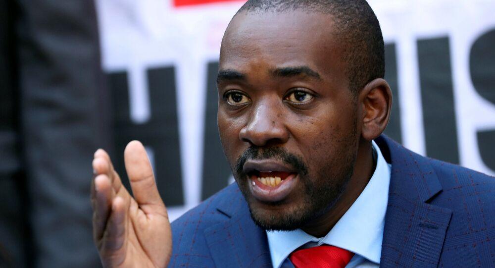 Nelson Chamisa, el líder del partido opositor Movimiento para el Cambio Democrático de Zimbabue