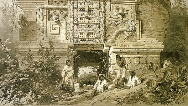 Un monumento de la cultura maya, imagen ilustrativa - Sputnik Mundo