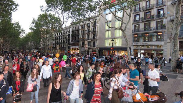 Turistas en Barcelona - Sputnik Mundo