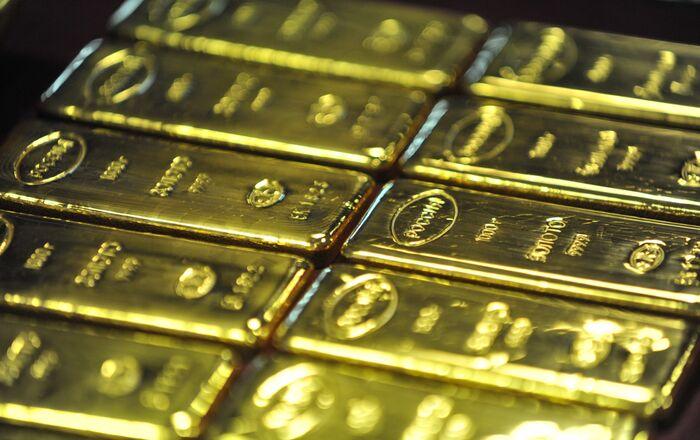 Producción de lingotes de oro en Rusia
