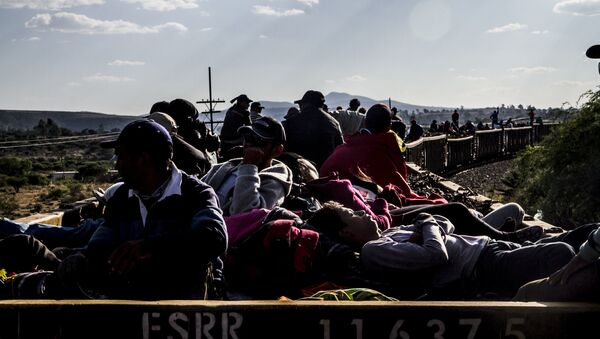 La Bestia lleva cientos de personas cruzando México - Sputnik Mundo