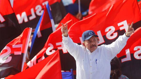 Daniel Ortega, presidente de Nicaragua, durante el 39 aniversario de la victoria sandinista - Sputnik Mundo