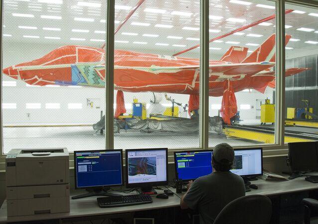 Un caza F-35 en las instalaciones de Lockheed Martin en Texas