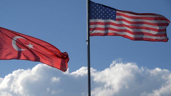 Las banderas de Turquía y EEUU - Sputnik Mundo