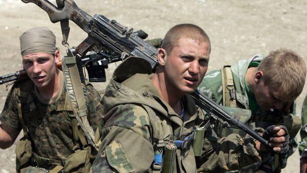 Los soldados rusos durante la Guerra de Osetia del Sur - Sputnik Mundo