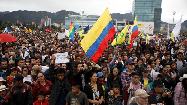 Marcha opositora en Bogotá, Colombia - Sputnik Mundo