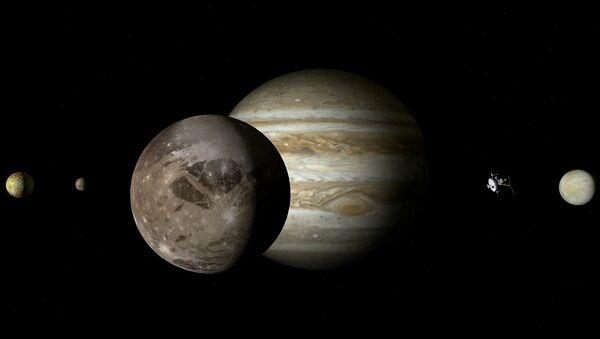 Ganimedes y otros satélites de Júpiter - Sputnik Mundo