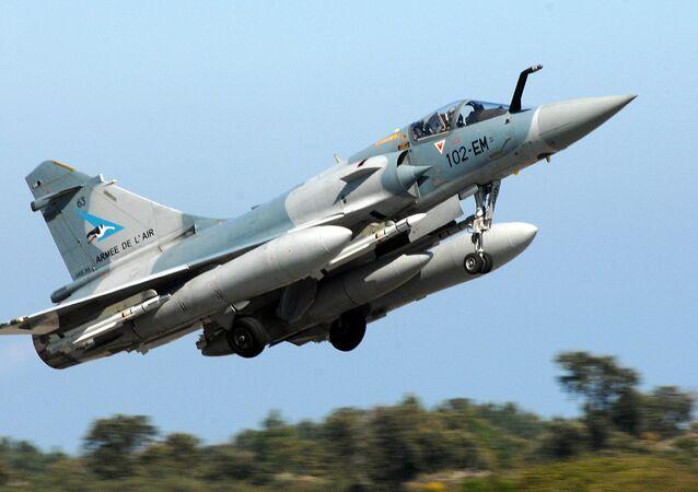 Un caza Mirage 2000-5 (archivo)