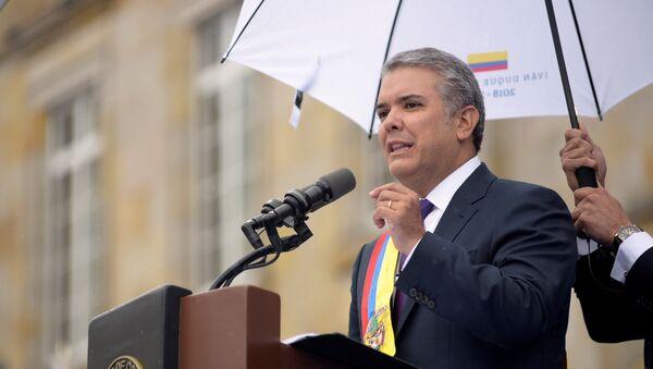 Iván Duque presidente de Colombia - Sputnik Mundo