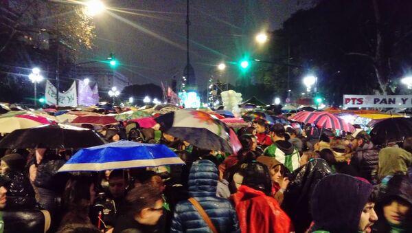 Una manifestación en contra del aborto en Argentina - Sputnik Mundo