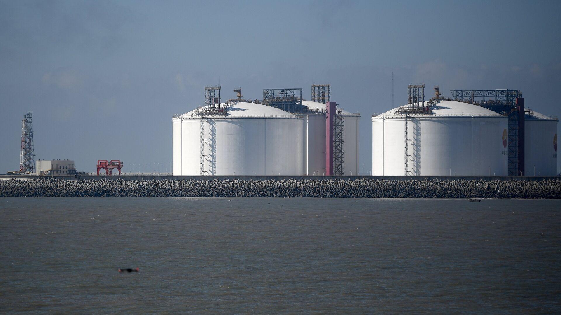 Прибытие  двух танкеров со сжиженным газом проекта «Ямал СПГ в Китай  - Sputnik Mundo, 1920, 04.08.2021