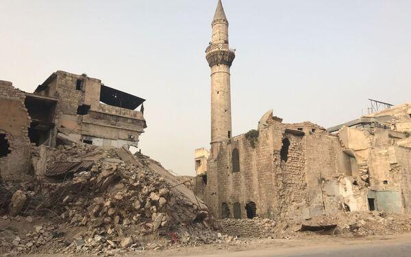 Los minaretes de las mezquitas punto estratégico para francotiradores, Siria - Sputnik Mundo