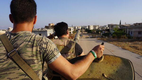 Insurgentes en la provincia siria de Idlib (archivo) - Sputnik Mundo