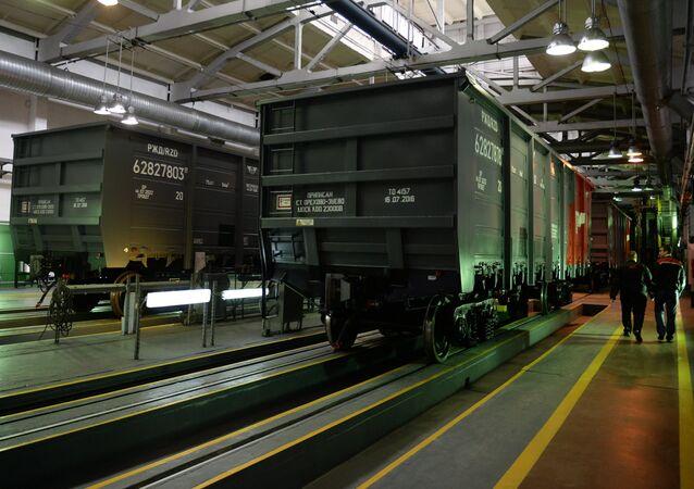 Unos vagones de Uralvagonzavod