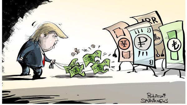Dólar que ladra no muerde - Sputnik Mundo