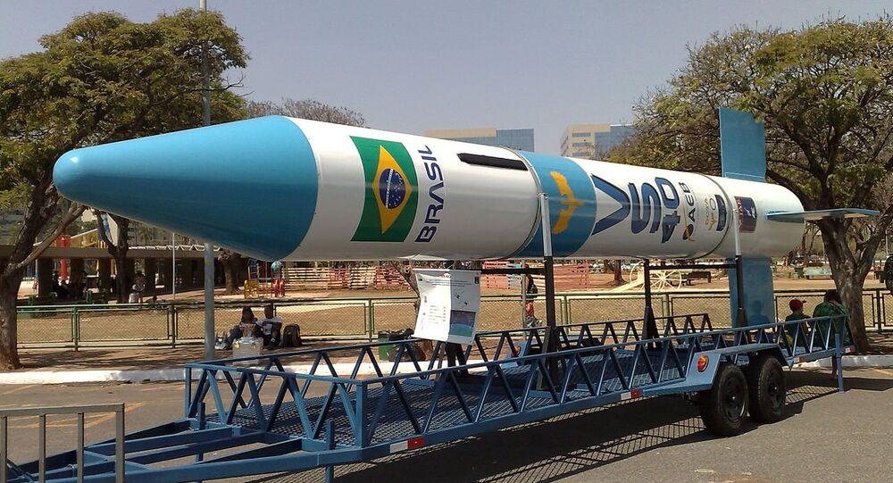 Un cohete espacial brasileño