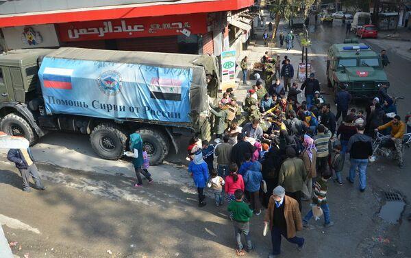 Entrega de ayuda humanitaria de la Fundación Pública Ajmat Kadírov a los habitantes de Alepo - Sputnik Mundo