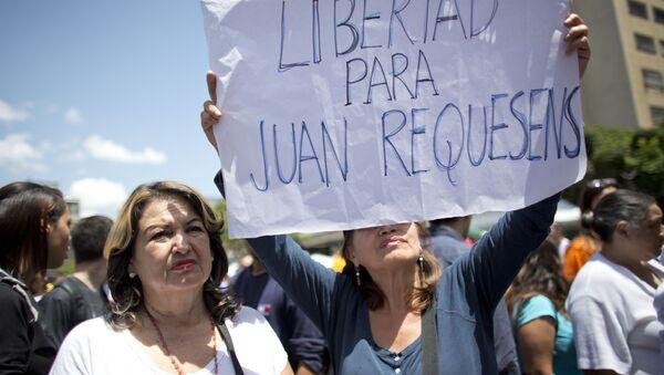 Protestas contra la detención del diputado Juan Requesens - Sputnik Mundo