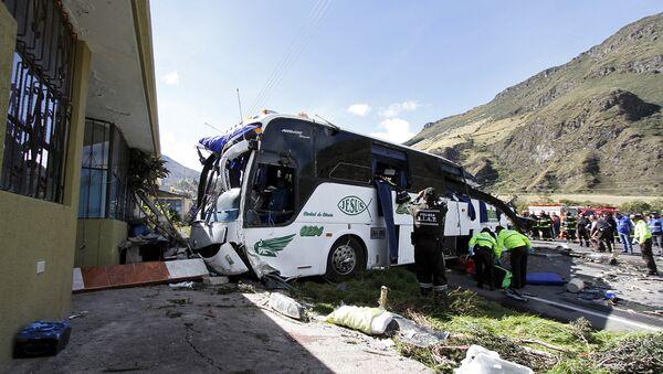 Accidente de autobús en la carretera Pifo-Papallacta, Ecuador - Sputnik Mundo