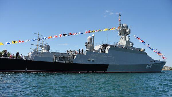 La corbeta portamisiles rusa Vishni Volochok, de la Flota del Mar Negro - Sputnik Mundo