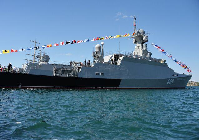 La corbeta portamisiles rusa Vishni Volochok, de la Flota del Mar Negro