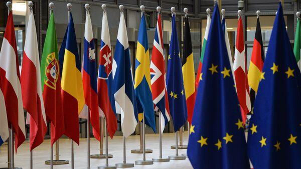 Las banderas de los países miembros de la Unión Europea - Sputnik Mundo