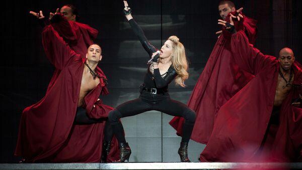 Madonna durante su concierto en Ámsterdam (Países Bajos) - Sputnik Mundo