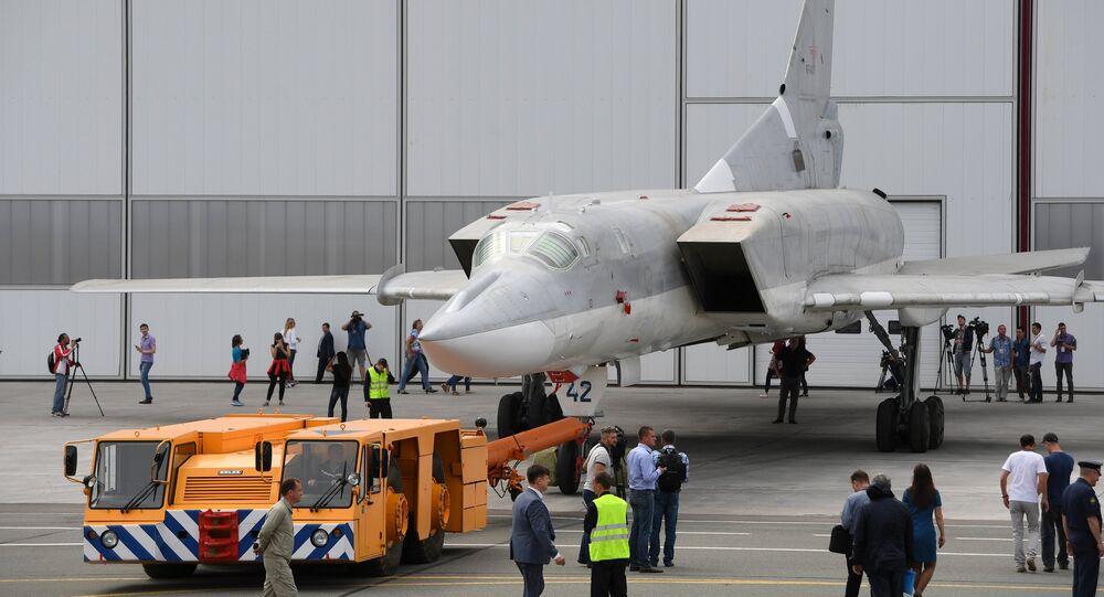 Un bombardero estratégico Tu-22M3M (archivo)