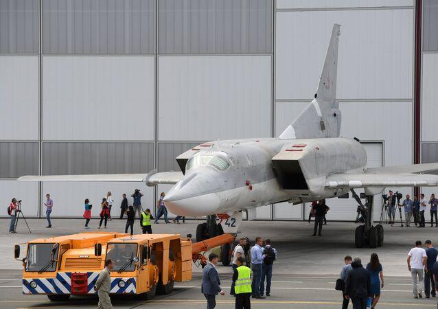 Un bombardero estratégico Tu-22M3M