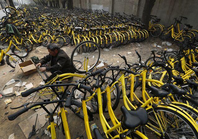 Cementerios de bicicletas en China