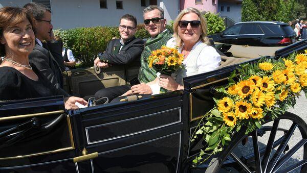 La boda de la ministra austriaca de Exteriores, Karin Kneissl - Sputnik Mundo