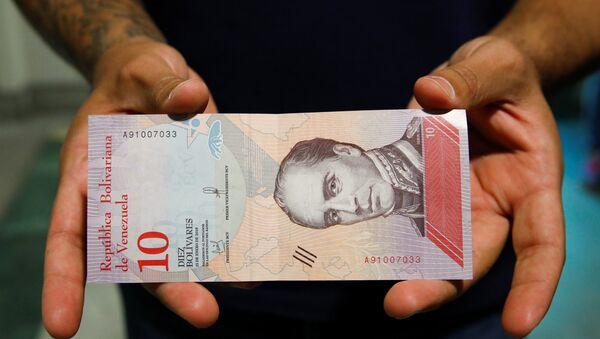 Billete de 10 bolívares venezolanos - Sputnik Mundo