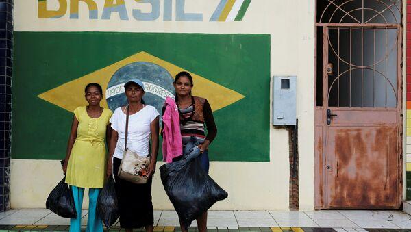Migrantes venezolanas en el estado de Roraima, Brasil - Sputnik Mundo