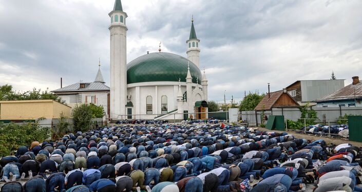 La fiesta de Eid al Adha en Barnaúl