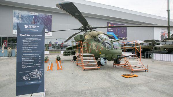 Uno de los helicópteros rusos expuestos en Army 2018 - Sputnik Mundo